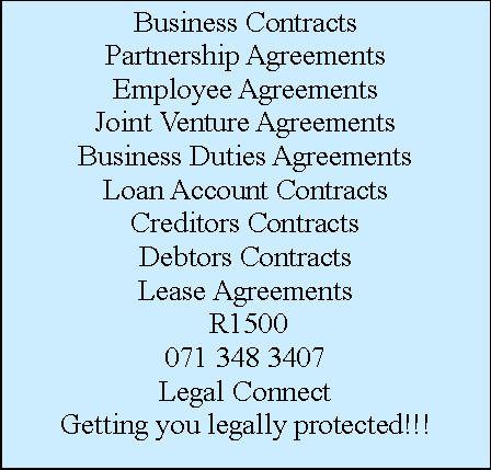 Partnership ContractsBusiness Joint Venture ContractsBusiness Duties