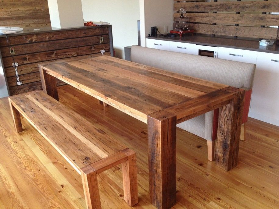 Elegant Unique Reclaimed Wood Dining Table Concept : Stunning Open Kitchen Design  Ideas Reclaimed Wood Dining Table