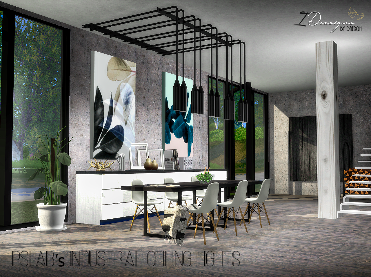 Spetses quot bedroom quot set onyx sims - Pslab S Industrial Ceiling Lights New Mesh Sims 4 Designs