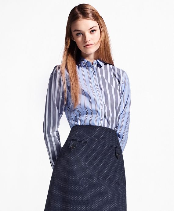368c8382c0 The Brooks Brothers Women s Collection by Creative Director Zac PosenWe ve  given our signature fun shirt a polished twist in striped stretch cotton.
