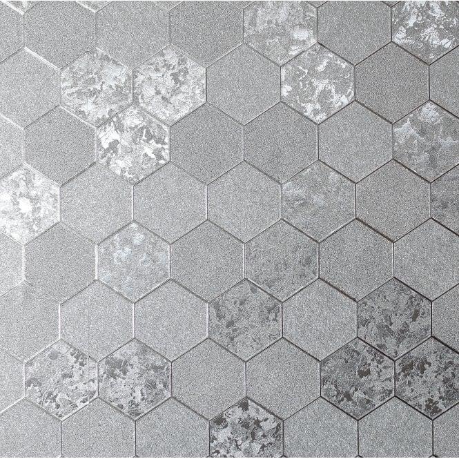 Arthouse Foil Silver Metallic Textured