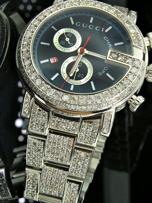 1e319ddc146f05 Gucci Watch YA101324 Fully Iced Out Mens Watch -  http   menswomenswatches.com