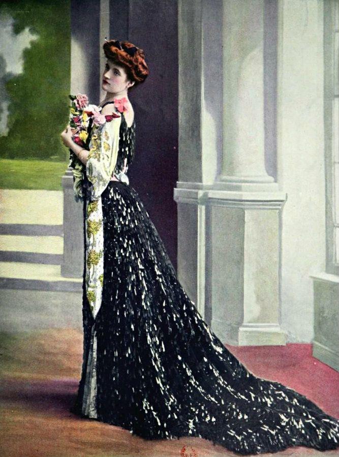 Robe de diner par Rouff, 1904