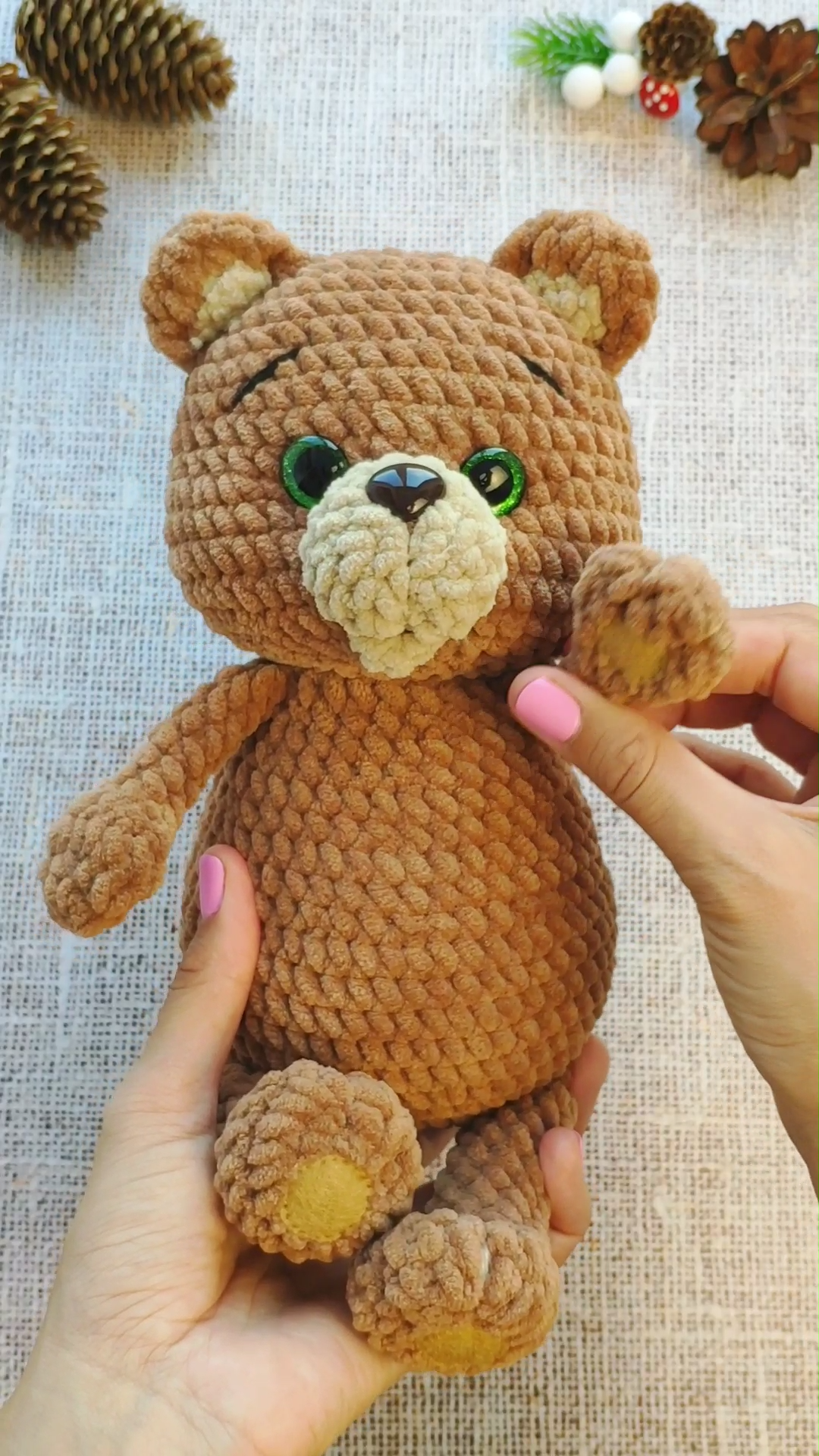 CROCHET TEDDY BEAR pattern - Amigurumi bear toy pattern - Plush Bear doll #babyteddybear