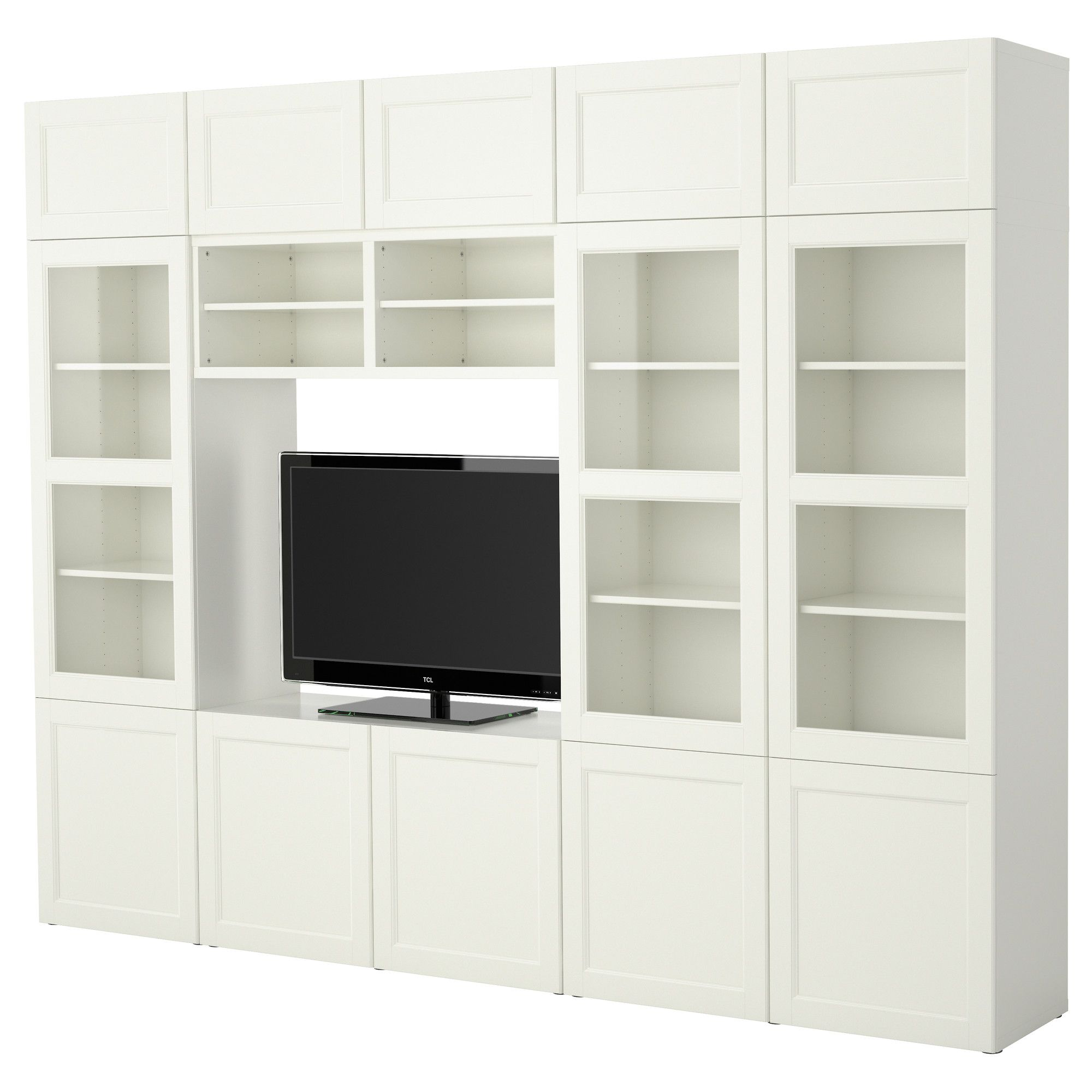 Best Tv Storage Combination Ikea 118 W X 15 75 D X 90 5 H  # Meuble Cache Tv Ikea