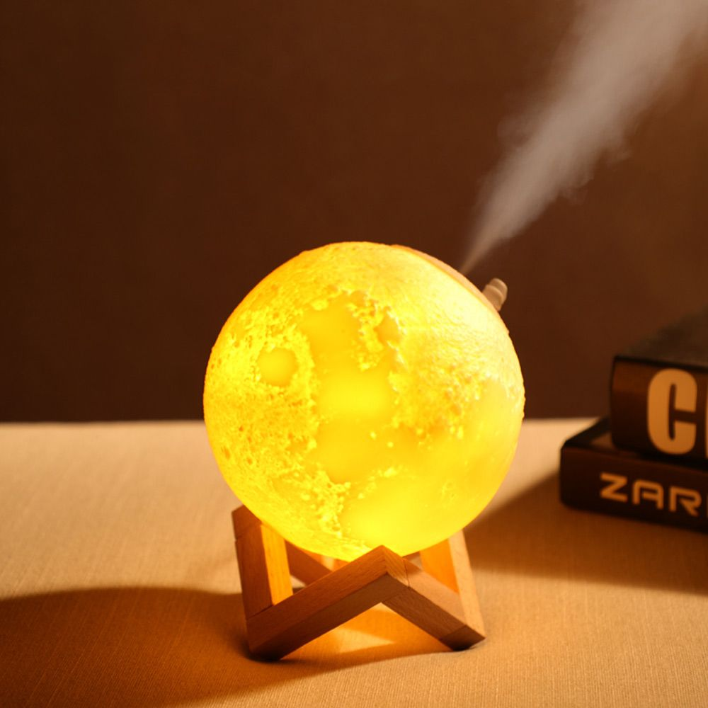 Air Humidifier 3d Moon Lamp Light Diffuser Aroma Essential Oil Usb Night Light Bulbs Diffuser Lamp