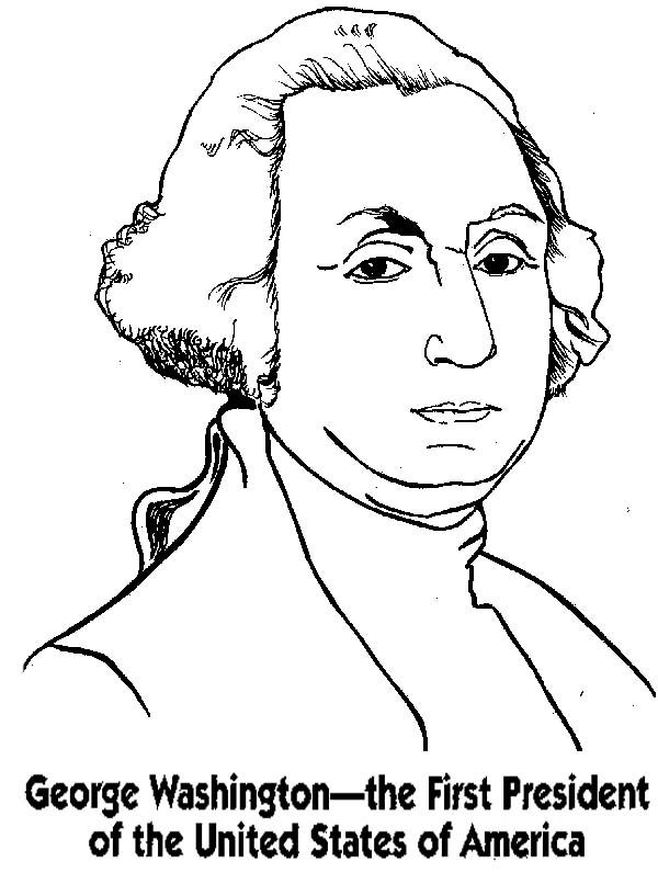 George Washington Coloring Pages in 2018 | Holiday Coloring Pages ...