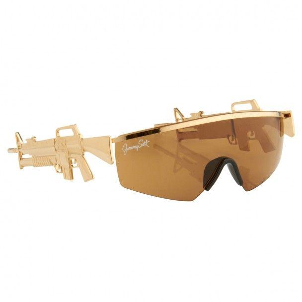 646b2c76a0be Gold gun sunglasses - Jeremy Scott   Linda Farrow - selected by Valery  Demure