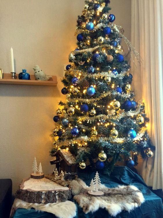 Stijlvolle Kerstboom Versierde Kerstbomen Kerstboom Kerst Deco