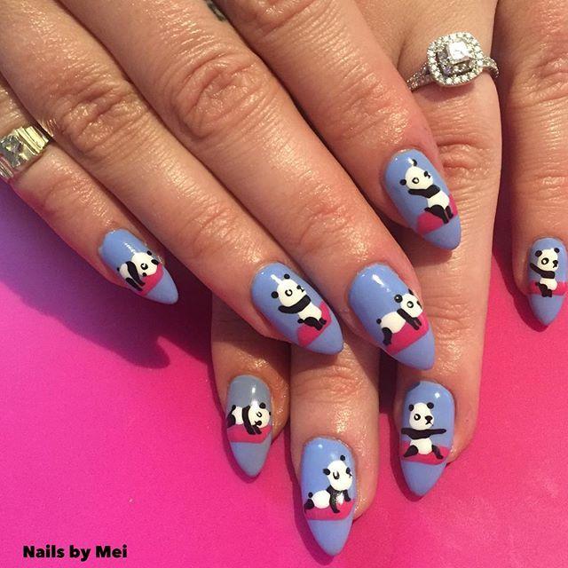 Yoga panda @penelopecupcake 🐼🐼🐼🐼🐼🐼🐼🐼💕#nailsbymei # ...