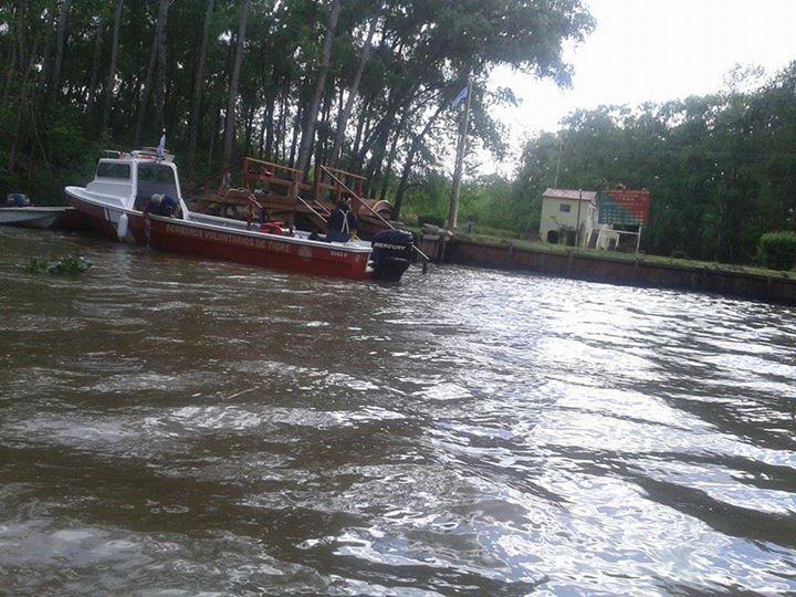 Maria Celia Gonzales: cuerpo de bomberos del Tigre