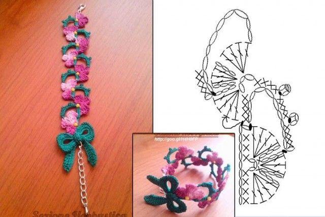 Pulseras de ganchillo Ideas | Crochetz.com