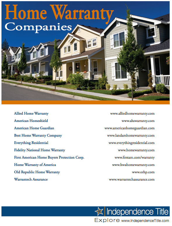 Home Warranty Companies Austin Home Warranty Home Buying
