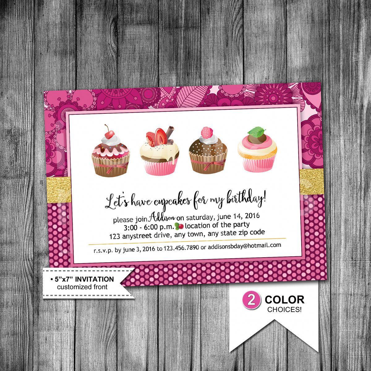 cupcake party invitation cupcake birthday invitation let s have
