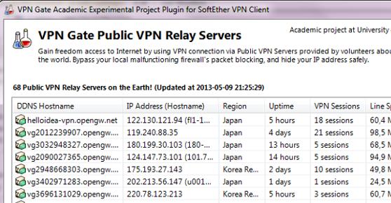 VPN Gate Client Plug-in with SoftEther VPN Client Offline