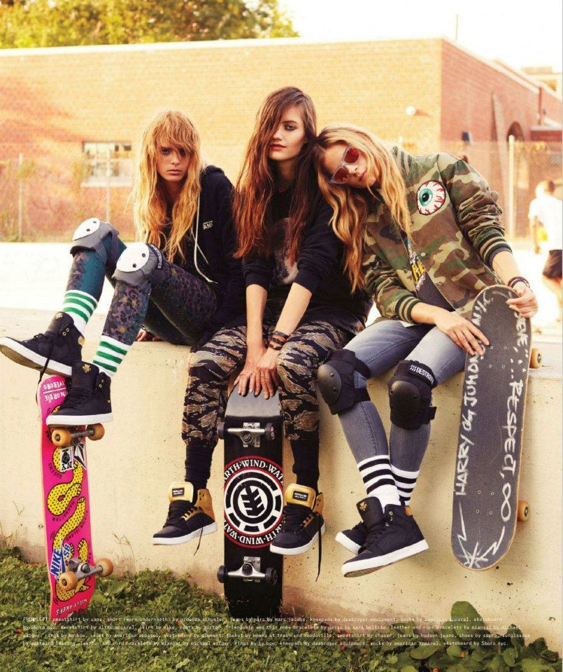 Skateboards Are The New Black With Images Skater Girl Outfits