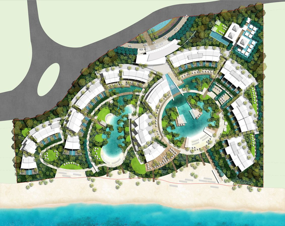 Resort landscape design google ud urban design for Hotel design layout