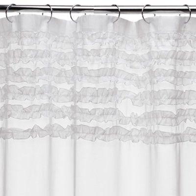 Shabby Chic Shower Curtain Ruffle Shower Curtains White Shower