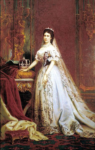 Queen Elisabeth of Hungary and Bohemia, Empress of Austria (1837–1898), in her coronation robes.