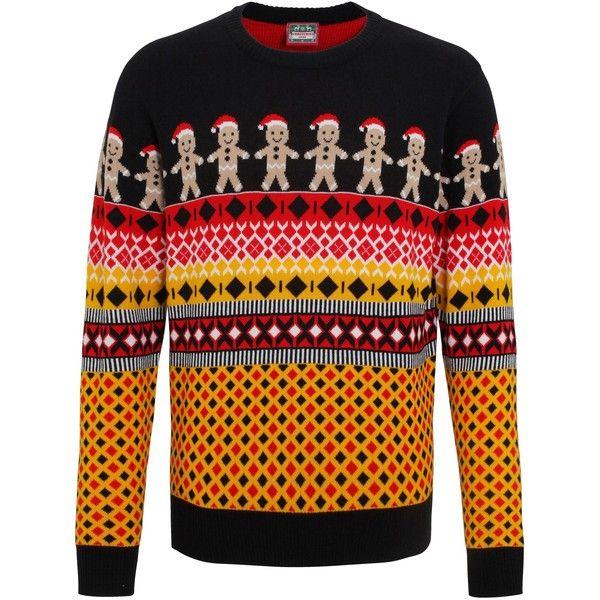 Christmas Shop Mens Fairisle Gingerbread Man Knitted Jumper ($29 ...