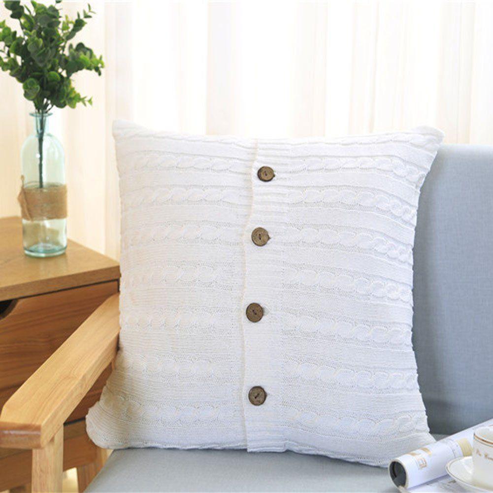 Memorecool european style twist knitting button design twoside
