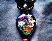 It's Bad. - Rainbow Reversal Owl Glass Pipe with Double Bowls . Link got nice pieces