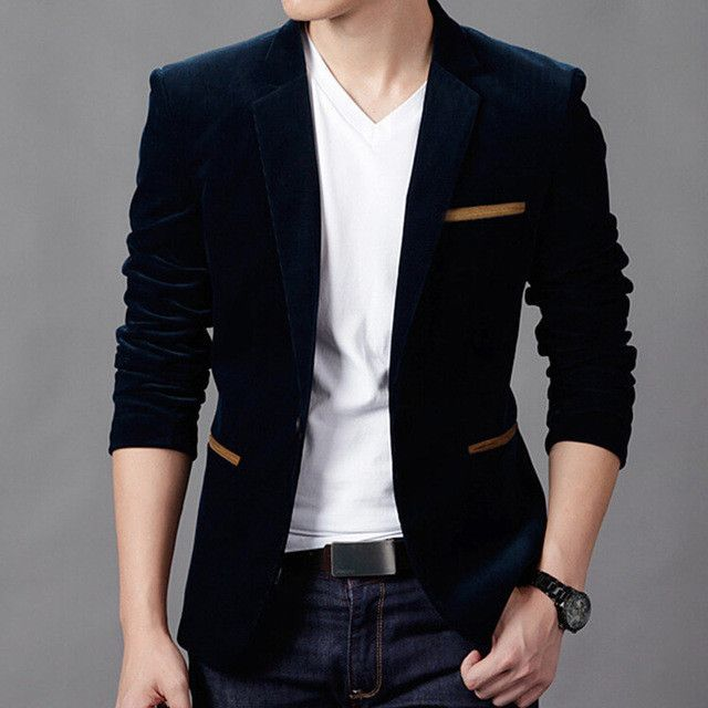 fa94d54cdb3 NEW Mens Fashion Brand Blazer British s Style casual Slim Fit suit jacket  male Blazers men coat Terno Masculino Plus Size 4XL