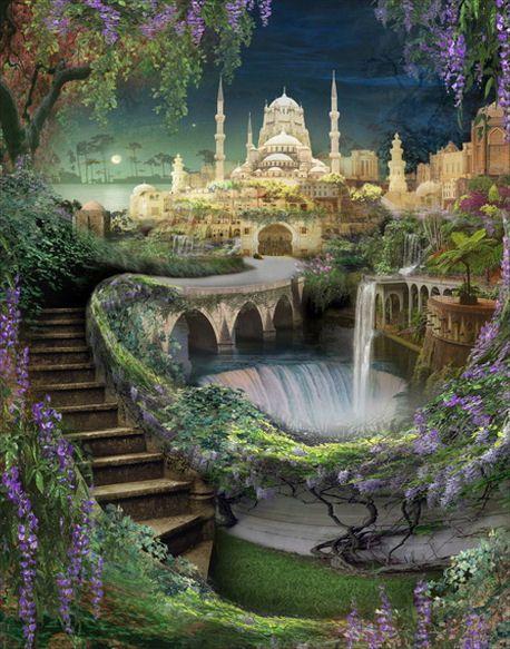 Jardines colgantes babilonia siete maravillas mundo 2 for Jardines colgantes de babilonia
