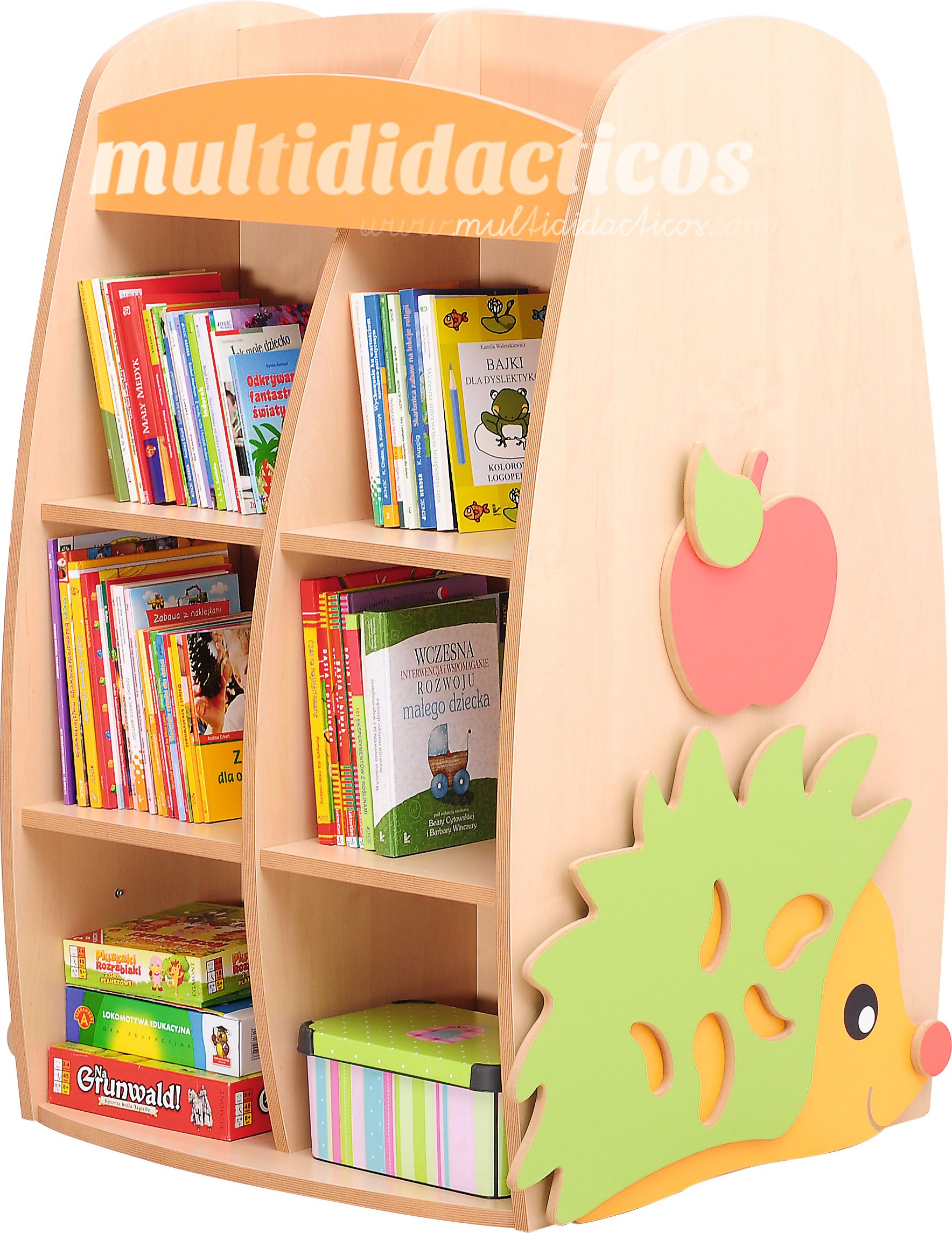Estanter a para libros mobiliario infantil escuela for Estanteria pared infantil
