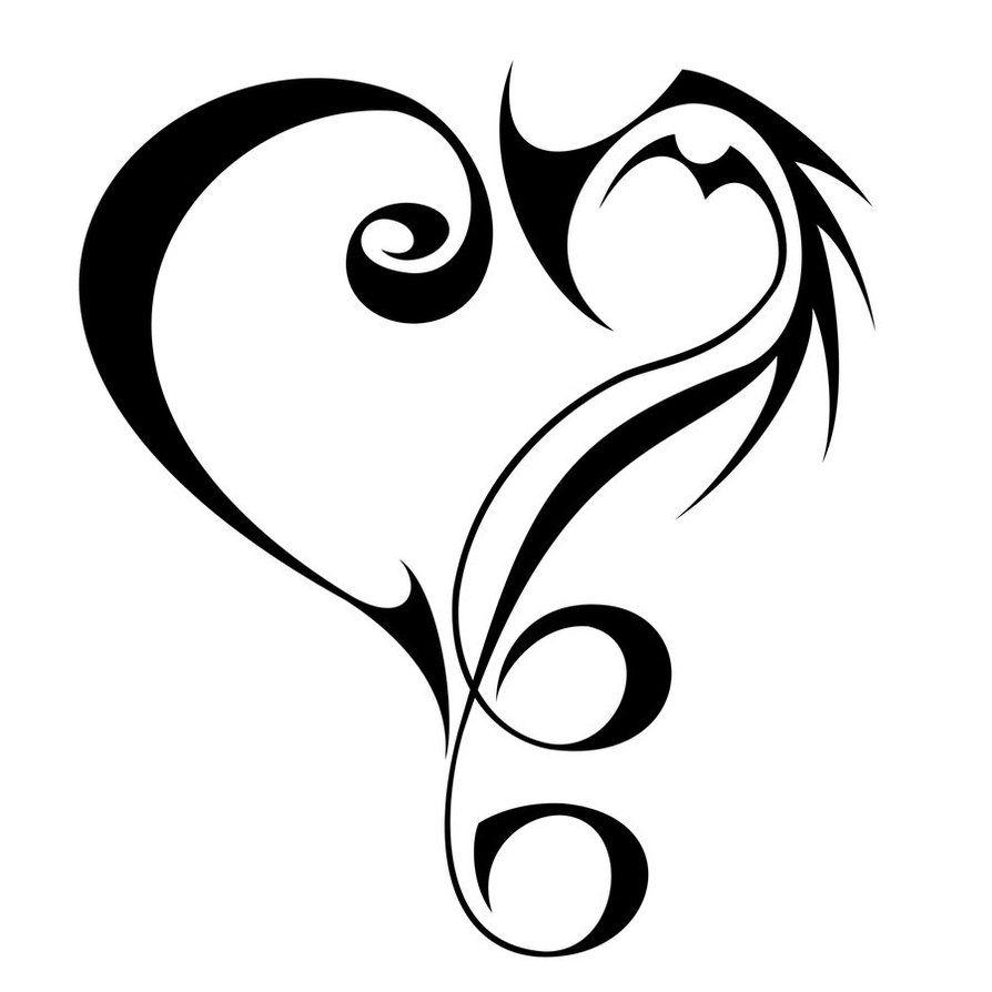 Tribal Tattoo Designs Tribal 9 Music Love By 0813tribals On Deviantart Tribal Heart Tattoos Music Tattoos