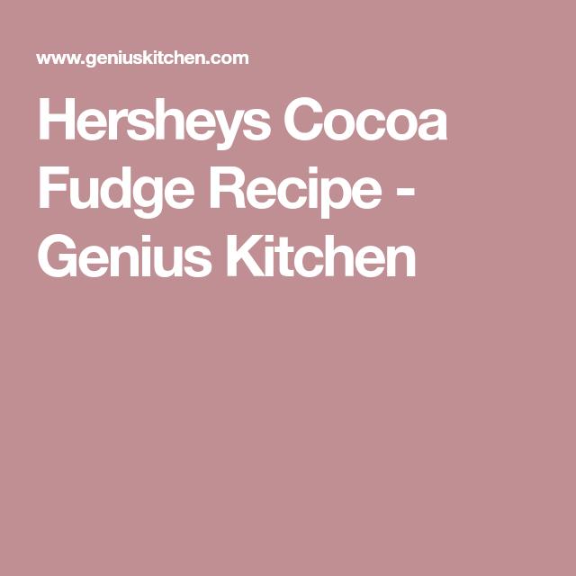 Hershey\'s Old Fashioned Rich Cocoa Fudge   Recipe   Fudge and Recipes