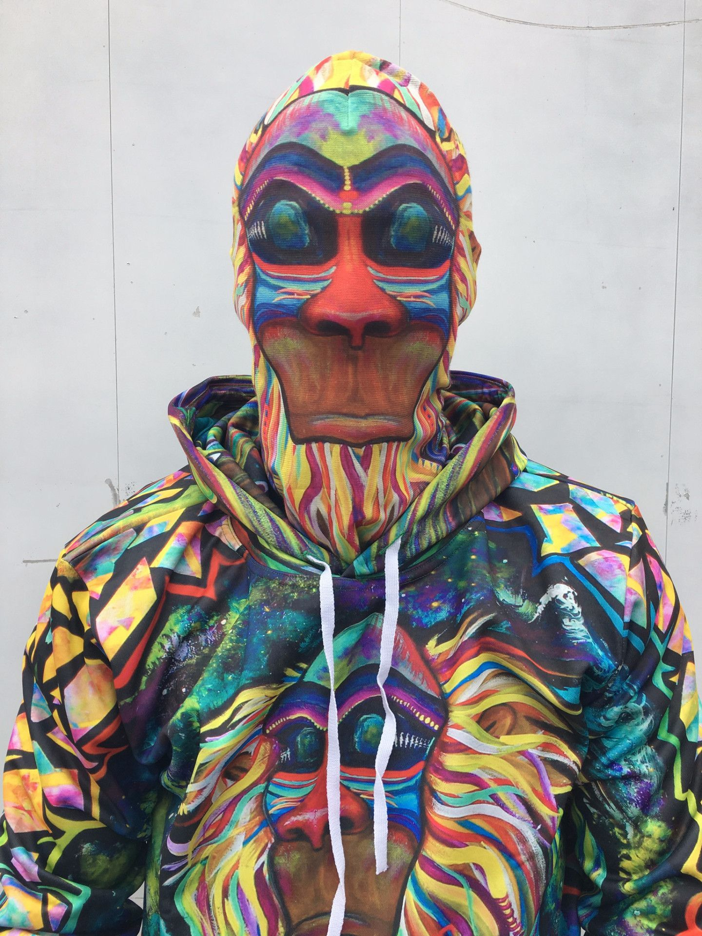 Meditating Rafiki Face Mask Face, Meditation, Halloween