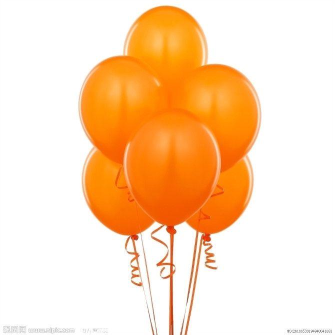 globos naranja -