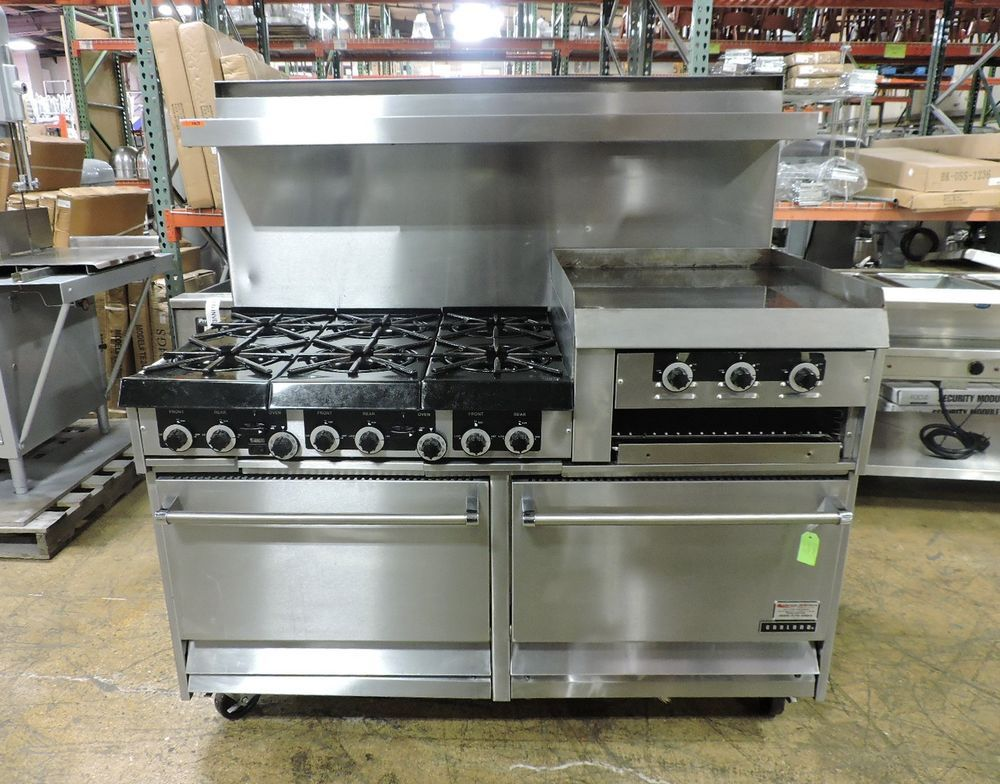 Garland H283rc Commercial 6 Burner Range W 2 Ovens Griddle Broiler Garland Restaurant Equipment Broiler Gas Grill