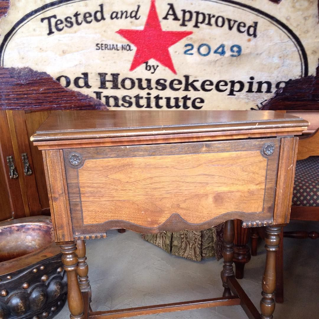 Expired Sewing Machine Table. No sewing machine. Great Accent Table...Chalk Paint!