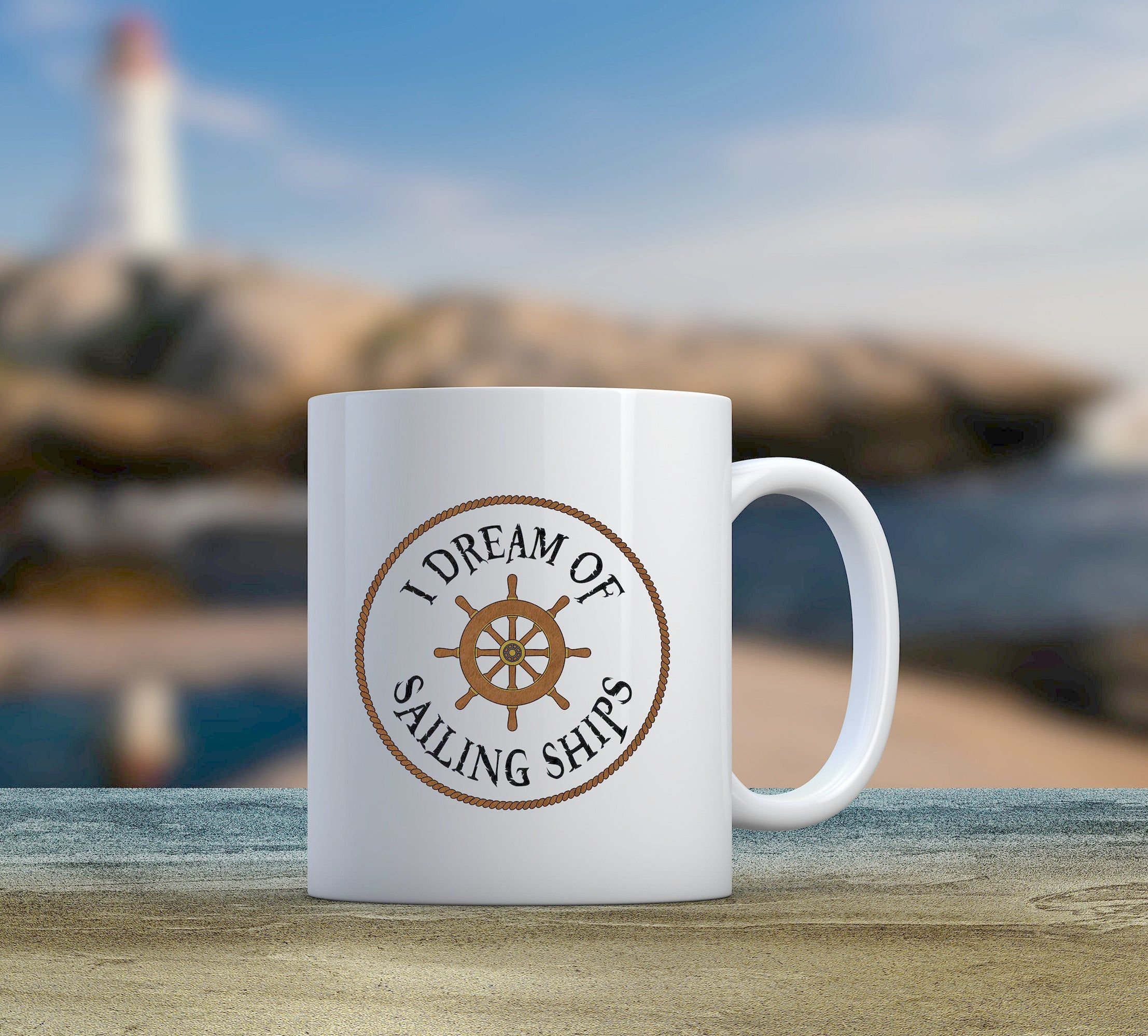 Sailing Coffee Mug I Dream Of Sailing Ships Coffee Cup Nautical Decor Gift Sailor S Gift Great For Home Or Office In 2020 Gifts For Sailors Nautical Decor Decor Gifts