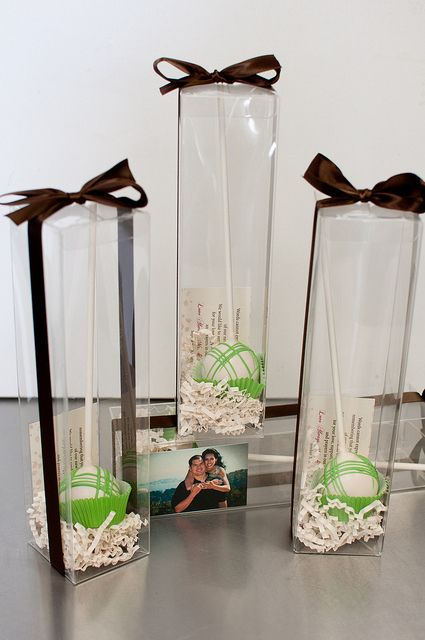 Love This Idea Pinner Wedding Cakepop Favor Boxes By Sweet Lauren Cakes Via Flickr Wedding Cake Pops Favors Wedding Cake Pops Wedding Favors