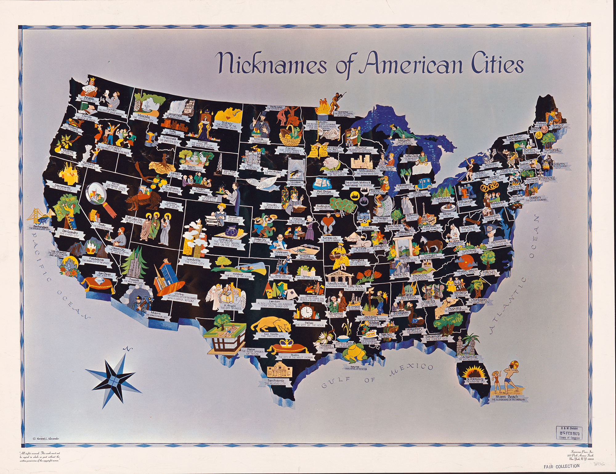 9 Quirky Colorful Pictorial Maps From Mid Century