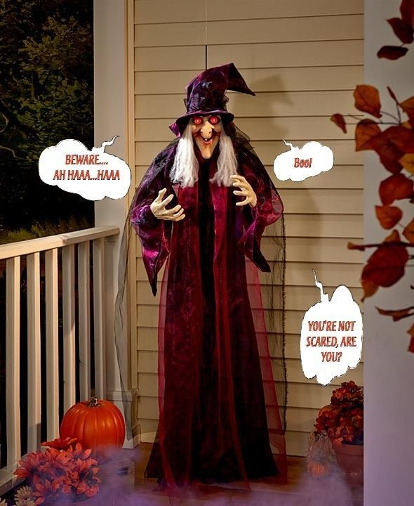 Halloween Decorations Hanging Talking Witch Almost 6 FT Tall 3 - witch decorations