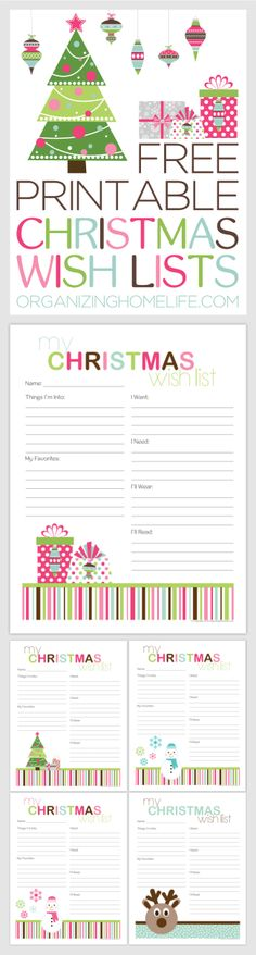 Free Printable Santa Letters For Kids List Templates Wish Template