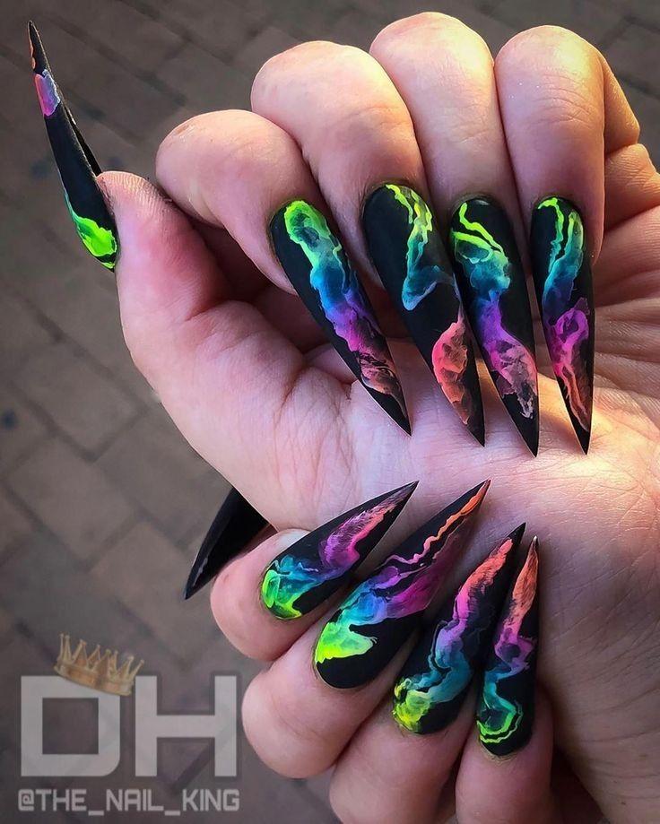 Long Stiletto Nails Ideas June 2020