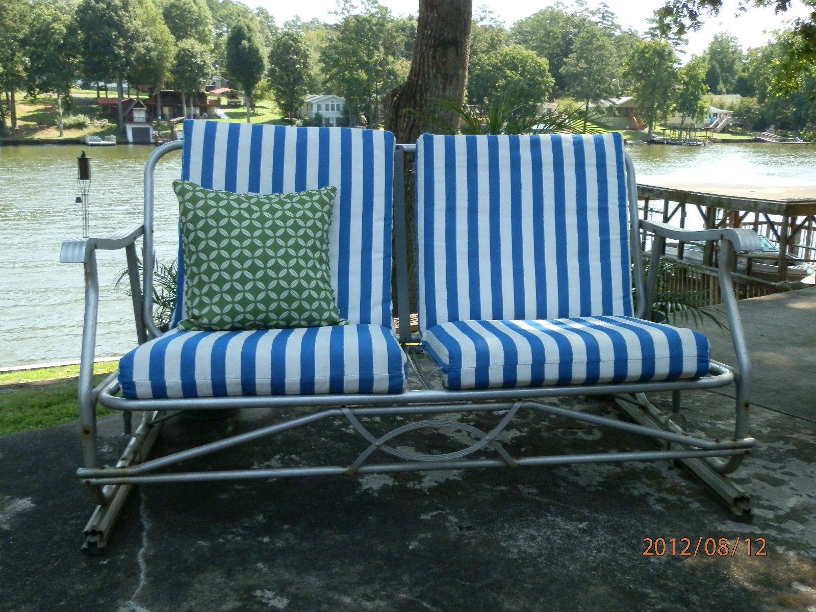 Vintage Retro Aluminum Patio Glider Amp Chairs Ebay