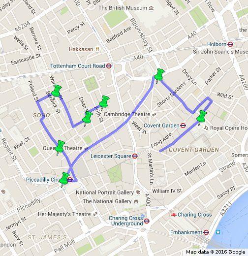 Map Soho London.Seven Noses Of Soho London Tourism In Uk In 2019 Soho London Map