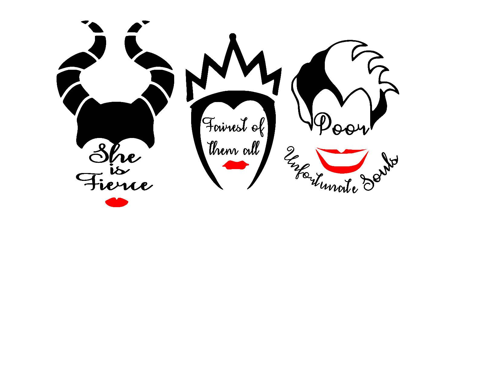 Decals Disney Villains Decals Fairest Of Them All She Is