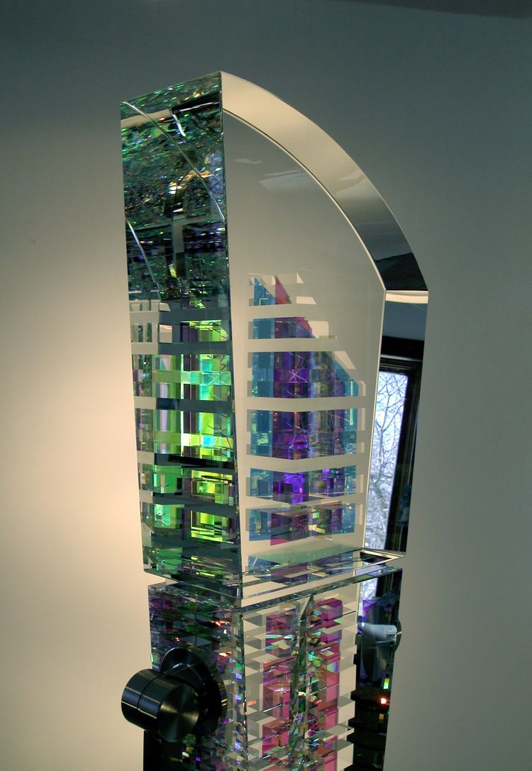 Toland Sand Clear Presence 72x12x6 Dichroic Optical Glasses Stainless Granite 2004 2 Jpg With Images Glass Cold Worked Glass Glass Art Sculpture