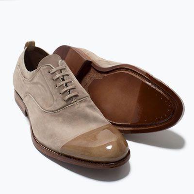 RAPPORTÉ HOMME ZARA RICHELIEU Chaussures À Chaussures BOUT CUIR EN v7v0RB1