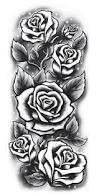 Resultado de imagem para roses sleeve tattoo