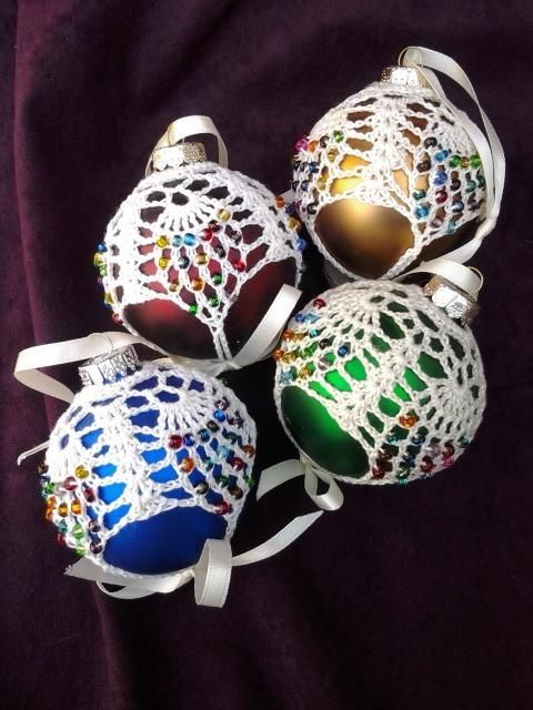 Crocheting: Beaded Thread Ornament #1 pattern $3.00 ...