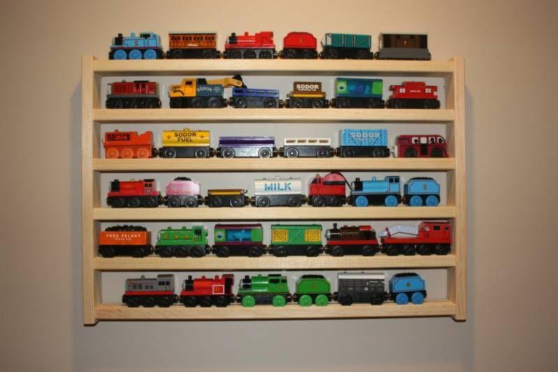 Train Rack Basic Thomas Wooden Storage Display Wall Shelf Play Table Accessory Case For Brio Chuggington Melissa And Doug