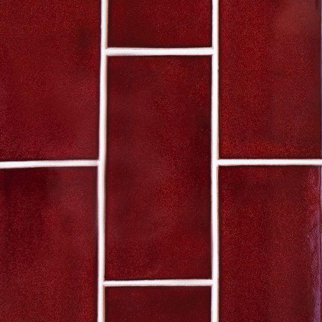 Go Bold With A Deep Red 4x8 Subway Tile 928 Oxblood 101waystousesubwaytile Subway Tile Colors Mercury Mosaics Red Subway Tile